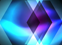 Digital technology glowing arrows. Digital technology glowing blue arrows, modern geometric abstract background with light effects and place for your message Royalty Free Stock Images