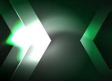 Digital technology glowing arrows Stock Image