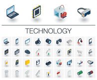Digital technology isometric icons. 3d vector Stock Photography
