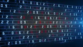 Digital technology numbers counter backgorund 4K