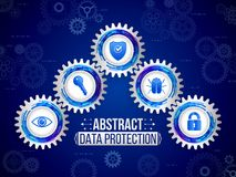 Digital technology protection concept. Global network security o Stock Image