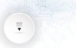 Digital technology world. Business virtual concept. Vector backg Stock Photography