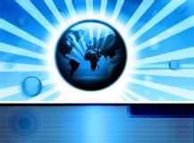 Digital technologycal backdrop Stock Image