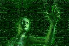 digital teknologi Arkivbild
