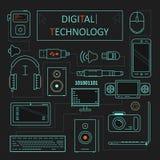 Digital teknologi Arkivbilder
