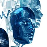 digital teknologi för cyborg 3d stock illustrationer