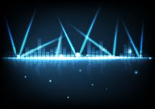 Digital teknologi med ljus ljus effektabstrakt begreppbakgrund royaltyfri illustrationer