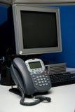 Digital-Telefon und Computer Stockfoto