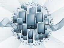 digital telefonteknologi stock illustrationer