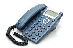 Digital telephone. With liquid-crystal display and speakerphone Royalty Free Stock Images