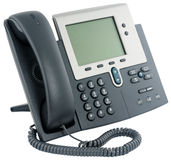 Digital telephone set, on-hook. Office digital telephone set,  on-hook, isolated on white Stock Photo