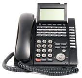 Digital telephone set over white Stock Images