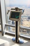Digital telescope on the lookout Burj Khalifa. Royalty Free Stock Photos