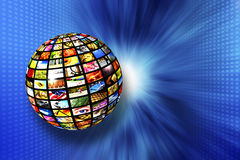 Digital television Stock Image