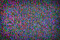 Digital television noise Stock Photography
