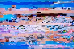 Digital television noise. Television screen with static noise caused by bad signal reception stock photos