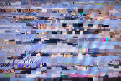 Digital television noise Royalty Free Stock Images