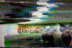 Digital television noise Stock Photos