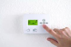 digital termostat Fotografering för Bildbyråer