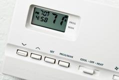 digital termostat Arkivfoton