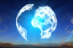 Free Digital Terrestrial Globe Royalty Free Stock Image - 75159966