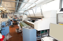Digital textile printing royalty free stock image
