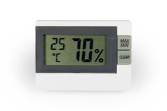 Digital thermo hygrometer Royalty Free Stock Photos