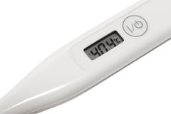 Digital thermometer in the foreground Stock Images