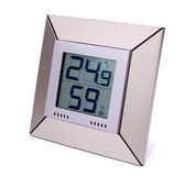 Digital thermometer and humidity meter Stock Image