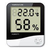 Digital thermometer hygrometer humidity icon Royalty Free Stock Image