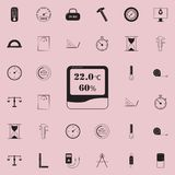 Digital thermometer icon. Detailed set of Measuring Elements icons. Premium quality graphic design sign. One of the collection ico. Ns for websites, web design Stock Images