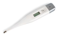 Digital thermometer (Path) Royalty Free Stock Photo