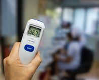 Digital thermometer use to measure patient temperature of the patients in the hospital. stock images