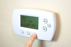 Digital-Thermostat Lizenzfreie Stockbilder
