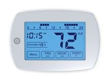 Digital thermostat royalty free illustration