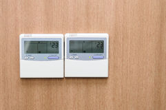Digital thermostat Stock Image