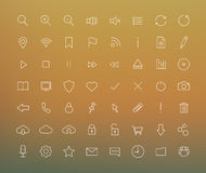 Digital thin line icons set Royalty Free Stock Photo