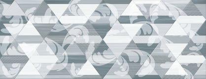 Digital tiles design. Colorful ceramic wall tiles decoration. Digital tiles design for wall royalty free illustration