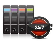 Digital time / server time illustration Stock Image
