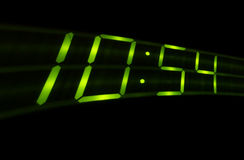 Digital time swish on black background Stock Photo