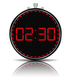 Digital Timer. Red digital timer on white background Royalty Free Stock Images