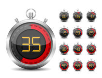 Digital Timer. Illustration of red digital timer Royalty Free Stock Photography