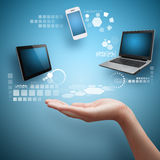 Digital tools. In the air royalty free stock images
