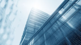 Digital Tower. Office Tower and Digital Technology stock images
