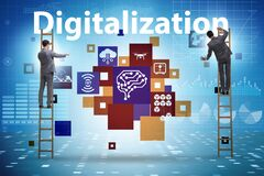Free Digital Transformation And Digitalization Technology Concept Stock Images - 172194124