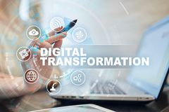 Free Digital Transformation, Concept Of Digitization Of Business Processes And Modern Technology. Royalty Free Stock Photos - 160971018