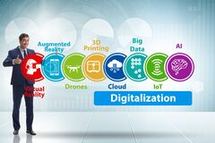 Digital transformation and digitalization technology concept