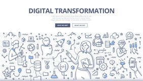 Free Digital Transformation Doodle Concept Royalty Free Stock Images - 163182049