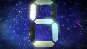 Digital Transformer Countdown Leader stock video footage