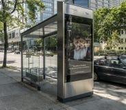 Digital transit shelters STM Stock Images